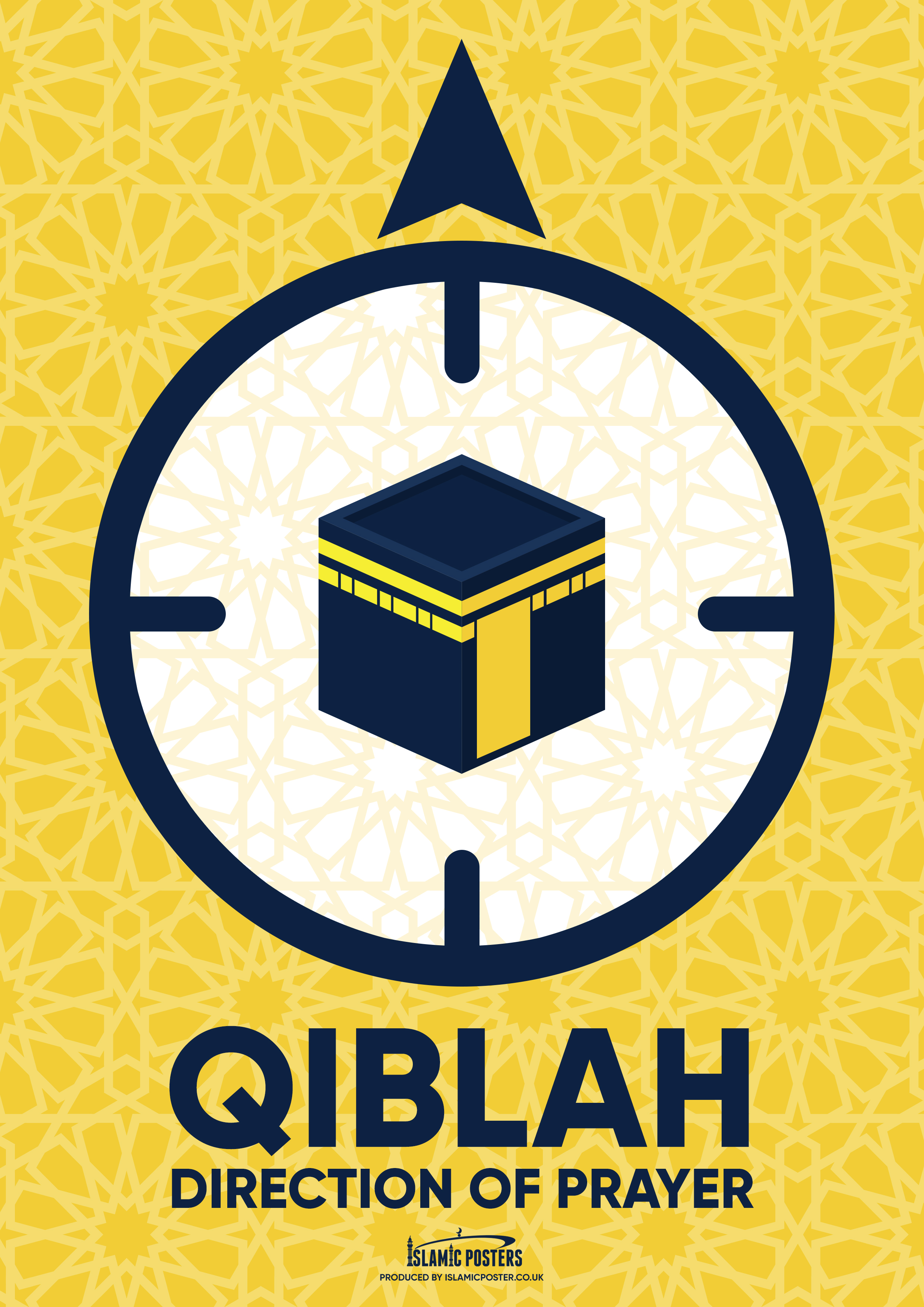 New 4 - Qiblah Pointer Poster By Islamic Posters